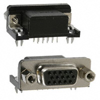 TE Connectivity AMP Connectors - 1734344-5 - CONN DSUB HD RCPT 15POS R/A SLDR
