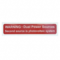 """TE Connectivity Raychem Cable Protection - SOL-DPS-104019-4-0.5 - LABEL ID/RATINGS 4.12""""X0.75"""""""