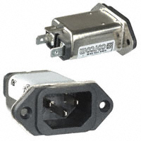 TE Connectivity Corcom Filters - 6609008-5 - PWR ENT RCPT IEC320-C14 PANEL QC