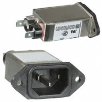 TE Connectivity Corcom Filters - 10EF1F - PWR ENT RCPT IEC320-C14 PANEL QC