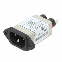 TE Connectivity Corcom Filters - 10EH4C - FILTER RFI PWR LINE MED .250 10A
