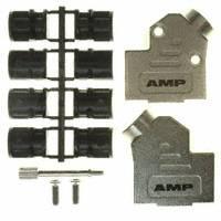 TE Connectivity AMP Connectors - 1478763-9 - CONN BACKSHELL 9P METAL 45DEG