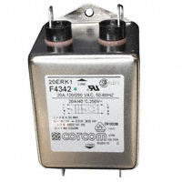TE Connectivity Corcom Filters - 2-1609089-7 - LINE FILTER 250VAC 20A CHASS MNT
