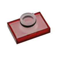 TE Connectivity ALCOSWITCH Switches - 64T2 - LENS SET RECT RED 3PCS