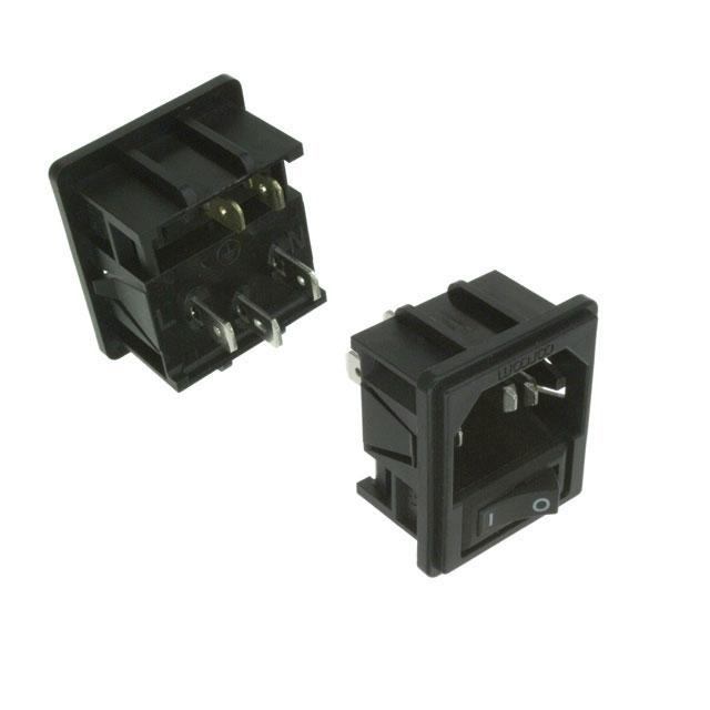 TE Connectivity Corcom Filters - 1-1609112-7 - PWR ENT MOD RCPT IEC320-C14 PNL