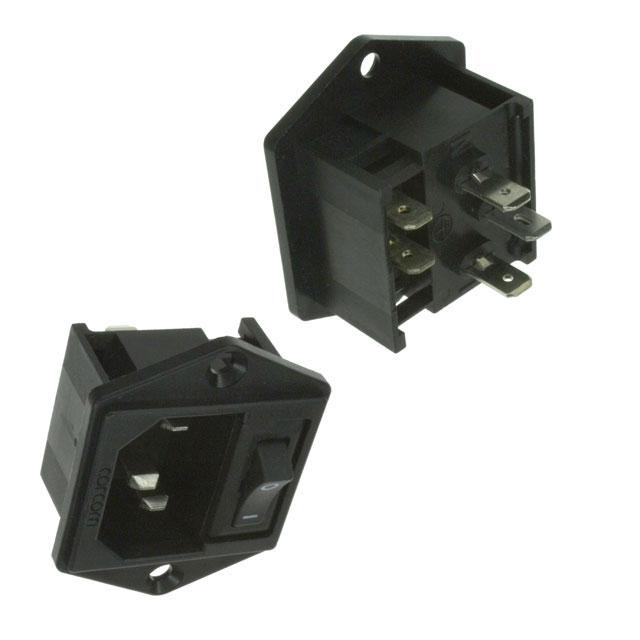 TE Connectivity Corcom Filters - 2-1609114-7 - PWR ENT MOD RCPT IEC320-C14 PNL