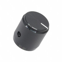 """TE Connectivity ALCOSWITCH Switches - KB700B1/4 - SWITCH KNOB STRGHT 0.75"""" BLACK"""