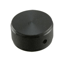 """TE Connectivity ALCOSWITCH Switches - KN1251B1/4 - SWITCH KNOB STRGHT 1.25"""" BLACK"""