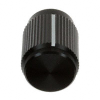 """TE Connectivity ALCOSWITCH Switches - KN500B1/4 - SWITCH KNOB STRAIGHT .50"""" BLACK"""