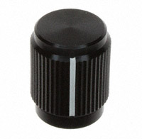 """TE Connectivity ALCOSWITCH Switches - KN500B1/8 - SWITCH KNOB STRAIGHT .50"""" BLACK"""