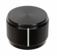 """TE Connectivity ALCOSWITCH Switches - KN900B1/4 - SWITCH KNOB STRAIGHT .949"""" BLACK"""