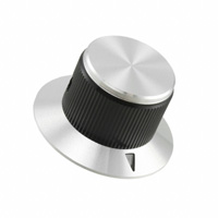"""TE Connectivity ALCOSWITCH Switches - KNS701BA1/4 - SWITCH KNOB STRGHT0.75""""BLCK NTRL"""