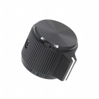 """TE Connectivity ALCOSWITCH Switches - KPN700B1/4 - SWITCH KNOB STRGHT 0.75"""" BLACK"""