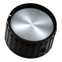 """TE Connectivity ALCOSWITCH Switches - PKG100B1/4 - SWITCH KNOB RIBBED 1.055"""" BLACK"""