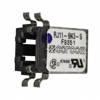 TE Connectivity Corcom Filters - RJ11-6N3-S - CONN MOD JACK 6P6C R/A SHIELDED