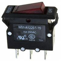 TE Connectivity Potter & Brumfield Relays - W51-A122B1-15 - CIR BRKR THRM 15A 250VAC 50VDC