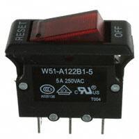 TE Connectivity Potter & Brumfield Relays - W51-A122B1-5 - CIR BRKR THRM 5A 250VAC 50VDC