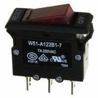 TE Connectivity Potter & Brumfield Relays - W51-A122B1-7 - CIR BRKR THRM 7A 250VAC 50VDC