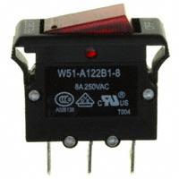 TE Connectivity Potter & Brumfield Relays - W51-A122B1-8 - CIR BRKR THRM 8A 250VAC 50VDC