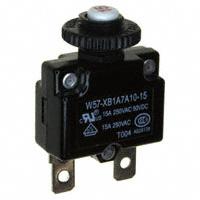 TE Connectivity Potter & Brumfield Relays - W57-XB1A7A10-15 - CIR BRKR THRM 15A 250VAC