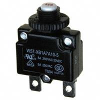 TE Connectivity Potter & Brumfield Relays - W57-XB1A7A10-5 - CIR BRKR THRM 5A 250VAC