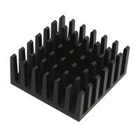 "Wakefield-Vette - 625-45AB - HEATSINK CPU 25MM SQ H=.45"" BLK"