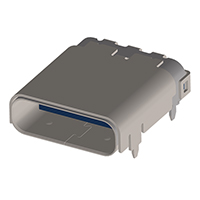 Amphenol Commercial Products - 12401548E4#2A - USB TYPE C R/A HYBRD TP-MNT RCPT