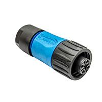 Amphenol Sine Systems Corp - C016 20D003 100 10 - CONN FEMALE PLUG 3+PE SILVR BLUE