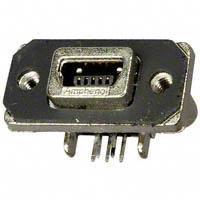 Amphenol Commercial Products - MUSBB15134 - CONN RUGGED USB RCPT R/A MINI B