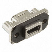 Amphenol Commercial Products - MUSBB151M0 - RUGGED RCPT USB MINI B RA