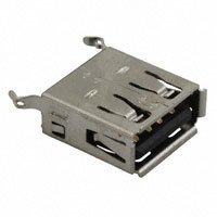 Amphenol Commercial Products - UE27AE54100 - CONN RCPT USB TYPE A VERT GOLD