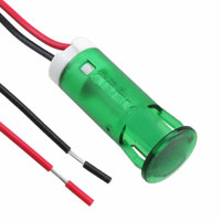 APEM Inc. - QS103XXG12 - INDICATOR 10MM FIXED GR 12V WIRE