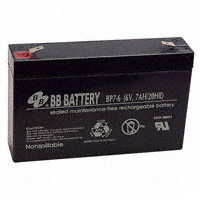 B B Battery - BP7-6-T2 - BATTERY LEAD ACID 6V 7AH