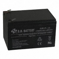 B B Battery - HR15-12-T2 - BATTERY LEAD ACID 12V 13AH