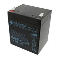 B B Battery - HRL5.5-12P-T2 RA - BATTERY LEAD ACID 12V 5AH