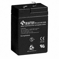 B B Battery - BP4-6-T1 - BATTERY LEAD ACID 6V 4AH