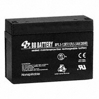 B B Battery - BP5.5-12-RT - BATTERY LEAD ACID 12V 5.5AH