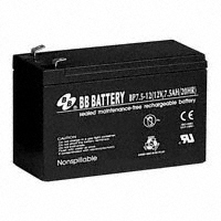B B Battery - BP7.5-12-T2-FR - BATTERY LEAD ACID 12V 7.5AH