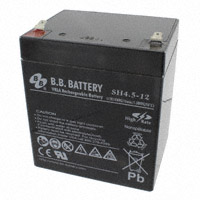 B B Battery - SH4.5-12-T1 - BATTERY LEAD ACID 12V 4.5AH