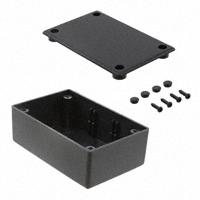 """Bud Industries - CU-1941 - BOX ABS BLACK 3.27""""L X 2.13""""W"""