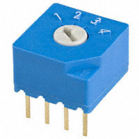 Copal Electronics Inc. - S-2050 - SWITCH ROTARY DIP SP4T 100MA 5V