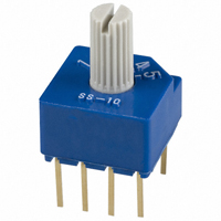 Copal Electronics Inc. - SS-10-15SP-LE - SWITCH ROTARY DIP SP5T 100MA 5V